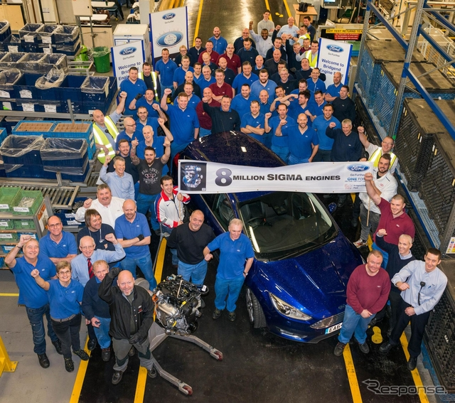 フォード英国工場における「デュラテック」エンジンの累計生産台数が800万基に到達