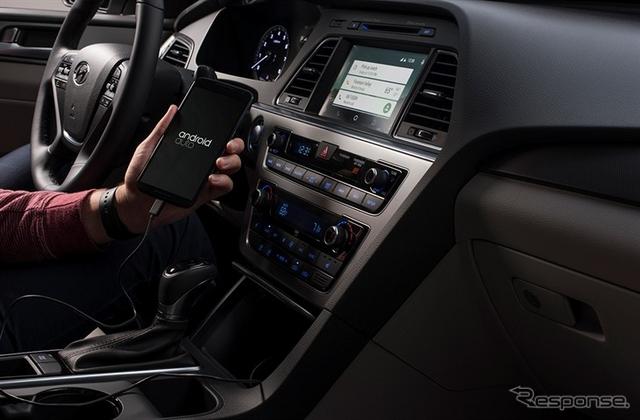 米国向けヒュンダイソナタに搭載されたアンドロイド・オート(Android Auto)