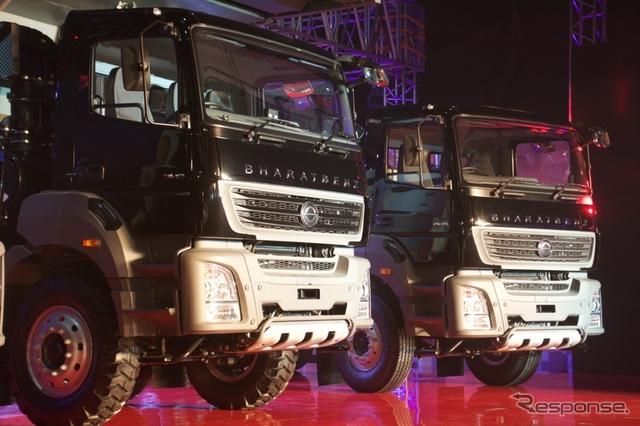 ダイムラー・トラック・アジア、新型大型トラック発表《撮影 橋本隆志》