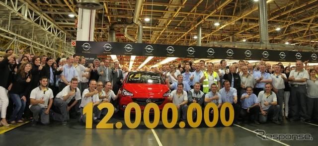 累計生産1200万台を達成したGMのスペイン工場