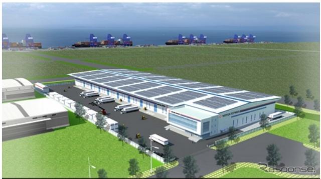 日本通運が韓国に建設する予定の自社倉庫(イメージ)