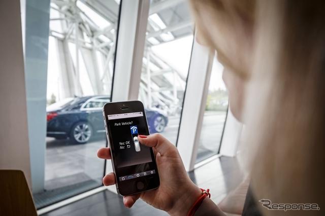 ダイムラーとボッシュが共同開発する自動駐車のイメージ