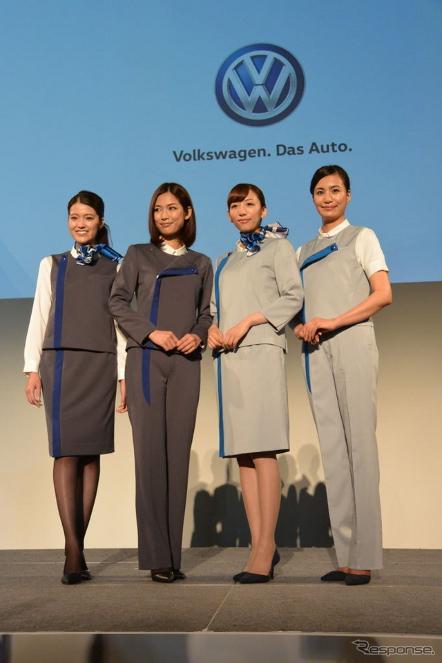 VWジャパン 女性ユニフォーム 発表会《撮影 小松哲也》