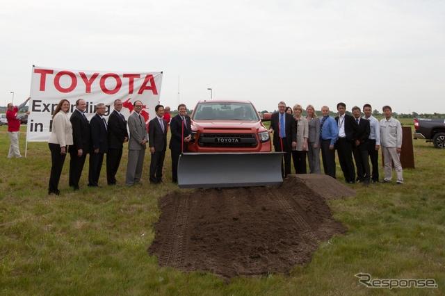 トヨタの米ミシガン州技術センターの拡張工事起工式