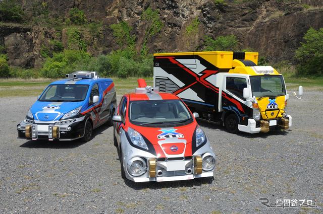 日産がウルトラマンXに提供する車両