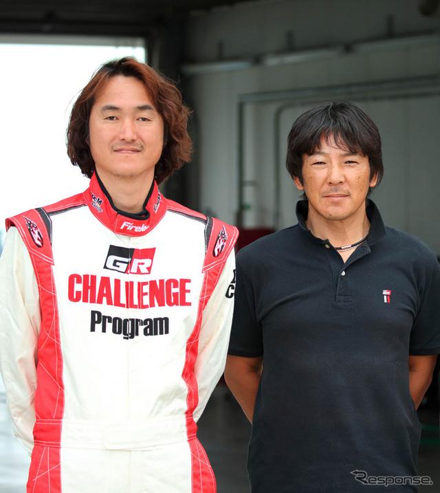 左から小野田貴俊選手、影山正彦監督