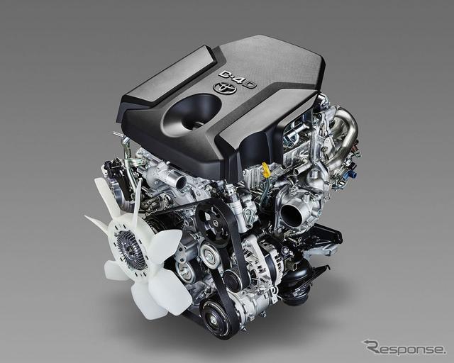 トヨタ ランドクルーザープラドに搭載されるディーゼルエンジン 1GD-FTV