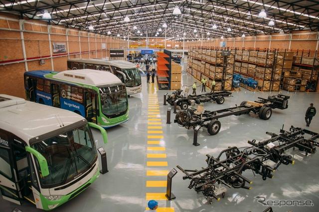 ダイムラーが南米コロンビアに開業したメルセデスベンツのバス工場