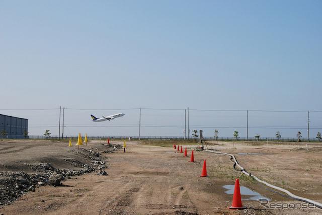 全日本モトクロス選手権第5戦がおこなわれる神戸空港画像提供:GMP 神戸大会運営事務局