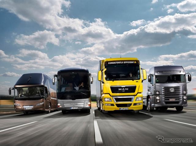 ドイツMANの大型バスやトラック(参考画像)