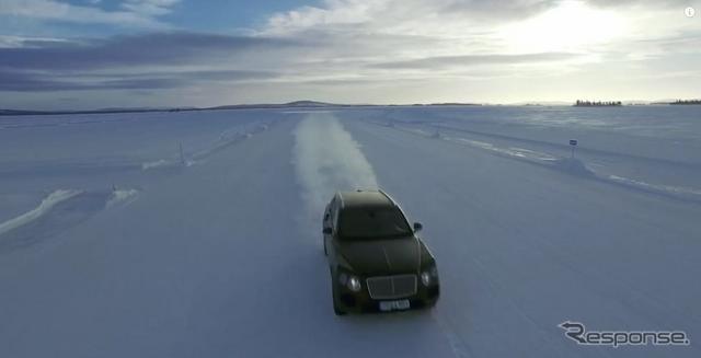 ベントレー ベンテイガの開発プロトタイプ車(動画スクリーンショット)