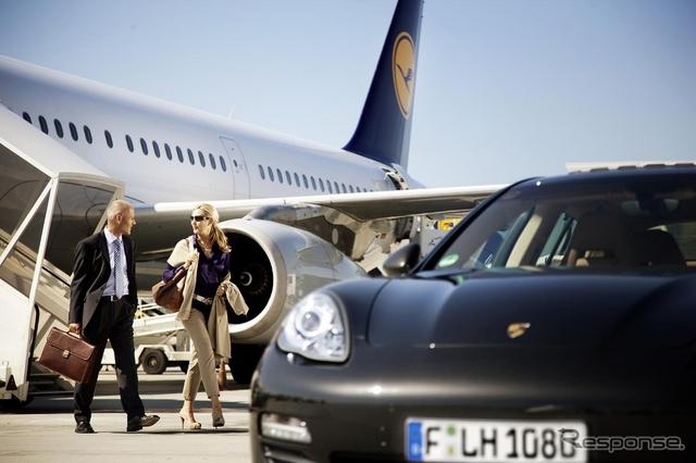 ルフトハンザ、出発前のファーストクラス旅客にポルシェを貸し出し《画像提供: Lufthansa AG》