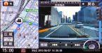 美優Navi対応ドラレコ CA-DR01Dからの映像。マップ連動表示にも対応する