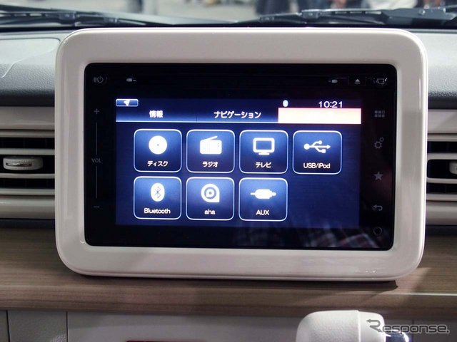 新型ラパンに採用されたハーマン インターナショナル製ナビシステム