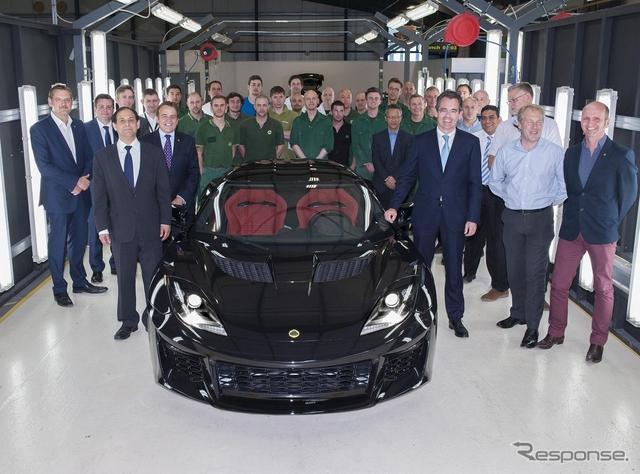 英ロータスカーズで生産が開始されたエヴォーラ400