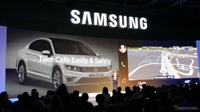 【IFA 2015】サムスン、「Car Mode for Galaxy」でVWと連携《撮影 三浦和也》