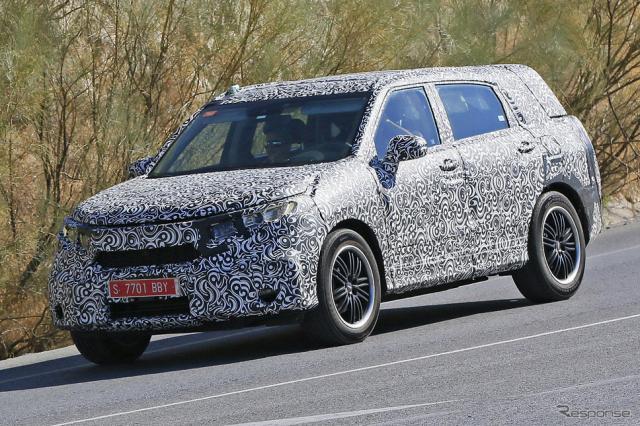 ホンダ 新型SUV スクープ写真《APOLLO NEWS SERVICE》