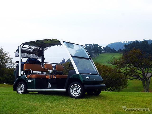 川奈ホテルゴルフコースで活躍するヤマハのゴルフカー《撮影 大野雅人(Gazin Airlines)》