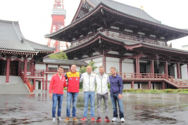 日本ラウンド開幕前にロペス、コロネル、タルクィーニ、モンテイロ、ラピエールが増上寺を訪問《撮影 吉田 知弘》