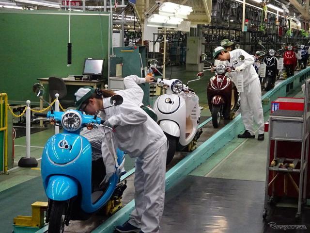 ホンダ 熊本製作所 ジョルノ生産ライン《撮影 池原照雄》