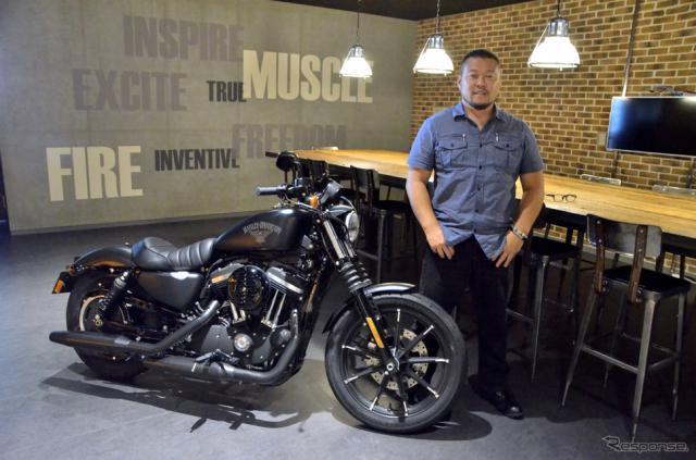 Harley-Davidson Motor Companyで唯一の日本人デザイナー、ダイス・ナガオ氏。《撮影 青木タカオ》