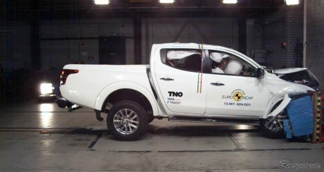 ユーロNCAPの新型三菱トライトンの衝突テスト