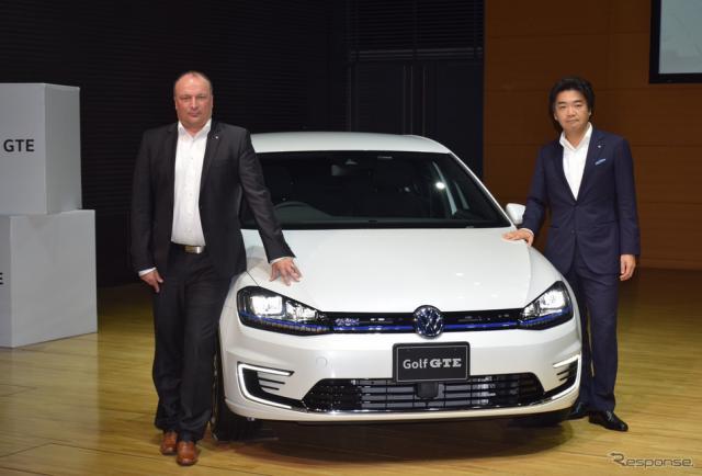 VW ゴルフGTE 発表会《撮影 関航介》
