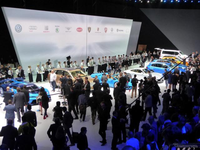 「VWグループナイト」。会場は大勢のメディアでいっぱいとなった