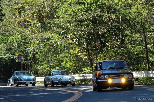 いすゞ ベレット1600GTR、アルピーヌA110、ポルシェ356《撮影 内田俊一》