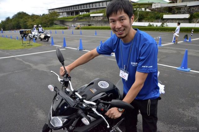 ヤマハ発動機 PF車両開発統括部 SP開発部 田中友基氏。《撮影 青木タカオ》