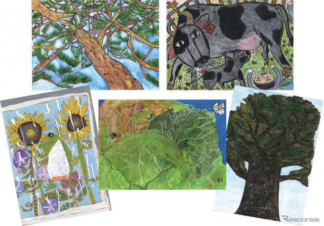 「第12回ブリヂストン こどもエコ絵画コンクール」ブリヂストン大賞 受賞作品《画像 ブリヂストン》