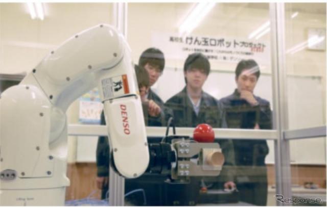 けん玉ロボット《画像 デンソー》