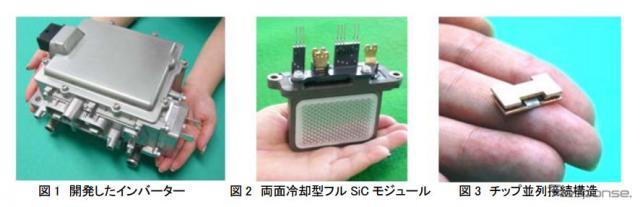 両面冷却型フルSiCパワーモジュールを適用した環境対応自動車向けインバーター