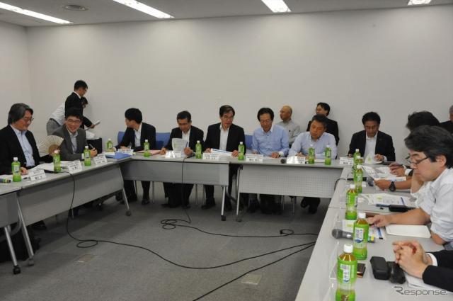 自動走行ビジネス検討会 将来ビジョン検討ワーキンググループ(9月29日・霞が関)《撮影 中島みなみ》
