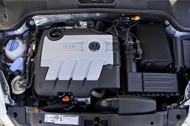 フォルクスワーゲンのターボディーゼル「TDI」エンジン(参考画像)
