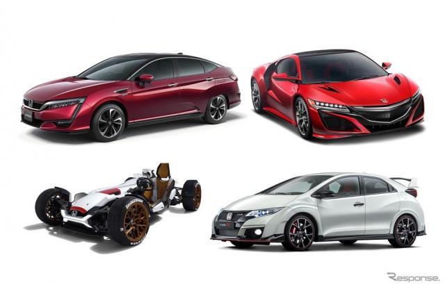 ホンダは東京モーターショー出展概要を発表。新型FCV(左上)を世界初公開する