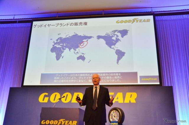 日本グッドイヤー 記者発表会《撮影 小松哲也》