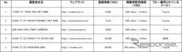 図表2 ベトナム主要ウェブサイト【川崎大輔作成】