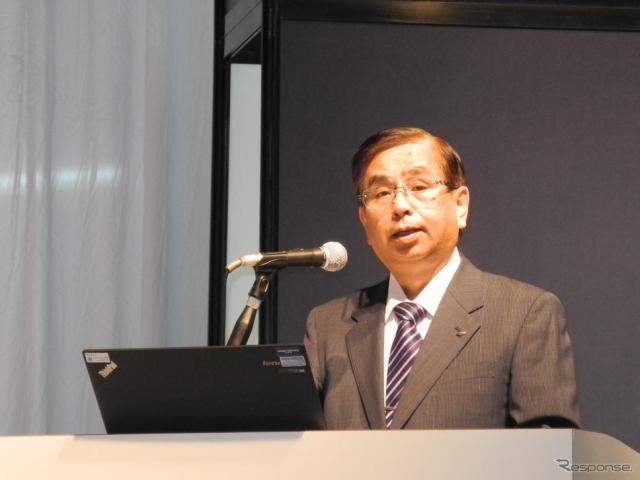 CEATEC JAPAN実施協議会の水嶋繁光会長《撮影 山田清志》