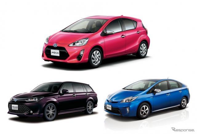 上半期車名別販売ランキングのトップ3はトヨタが独占