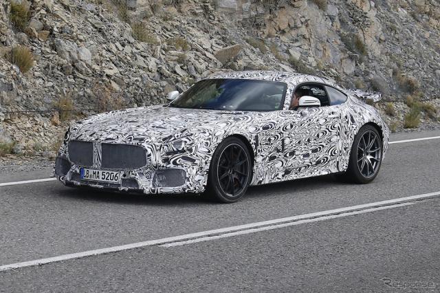 メルセデス AMG GT ブラックシリーズ スクープ写真《APOLLO NEWS SERVICE》