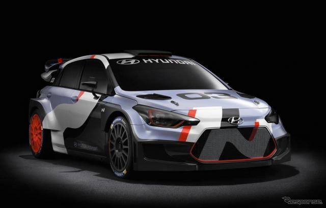 ヒュンダイ i20 WRC 新型のプレビューモデル