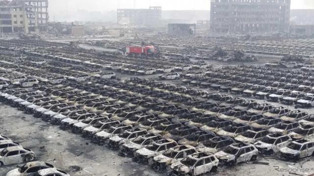 中国・天津の爆発事故現場《写真 Getty Images》