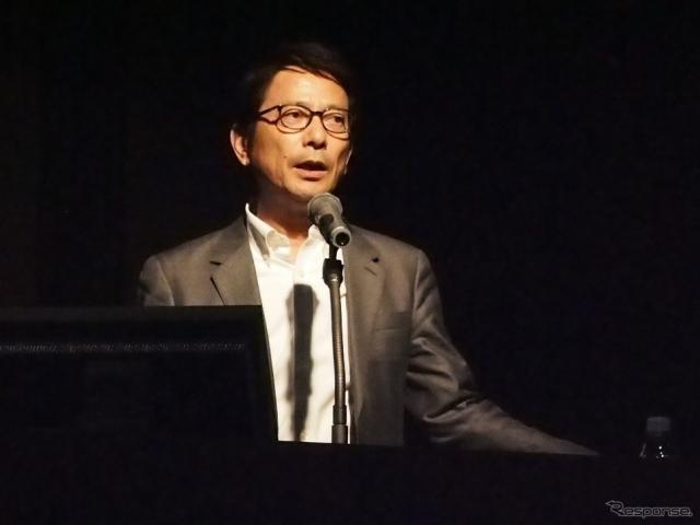 アマネク・テレマティクスデザインの代表取締役CEOである今井武氏《撮影 吉澤亨史》