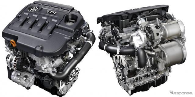 フォルクスワーゲングループのEA288型ターボディーゼル「TDI」エンジン