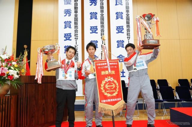 総合優勝の宮城日野チーム