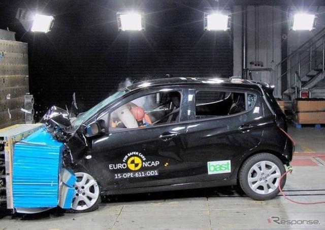 ユーロNCAPのオペルカールの衝突テスト