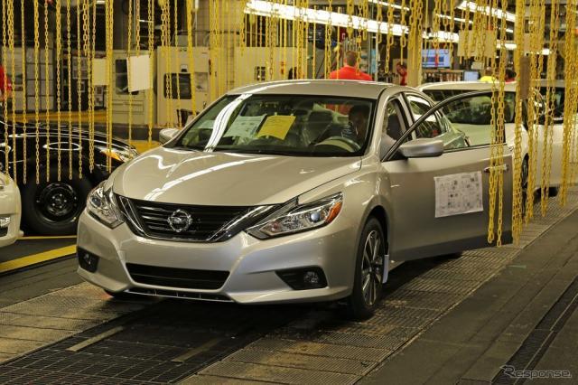 日産アルティマの2016年モデルの生産を、米国テネシー州スマーナ工場で開始