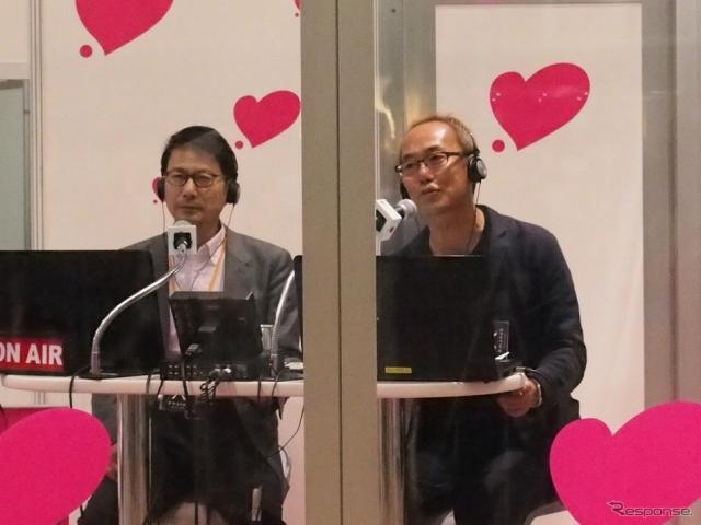 アマネク・テレマティクスデザインのCEOである今井武氏(左)とCMOである庄司明弘氏《撮影 吉澤亨史》
