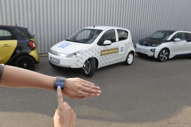 操縦性に優れ、局所的にゼロエミッションでの走行を可能にするとともにドライバーと環境をネットワークで接続するZFのアドバンスト・アーバン・ビークル